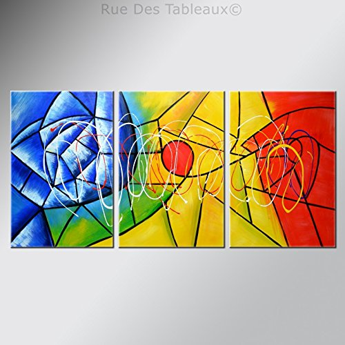 ruedestableaux - Tableaux abstraits - tableaux peinture - tableaux déco - tableaux sur toile - tableau moderne - tableaux salon - tableaux triptyques - décoration murale - tableaux deco - tableau design - tableaux moderne - tableaux contemporain - tableaux pas cher - tableaux xxl - tableau abstrait - tableaux colorés - tableau peinture - Composition florale