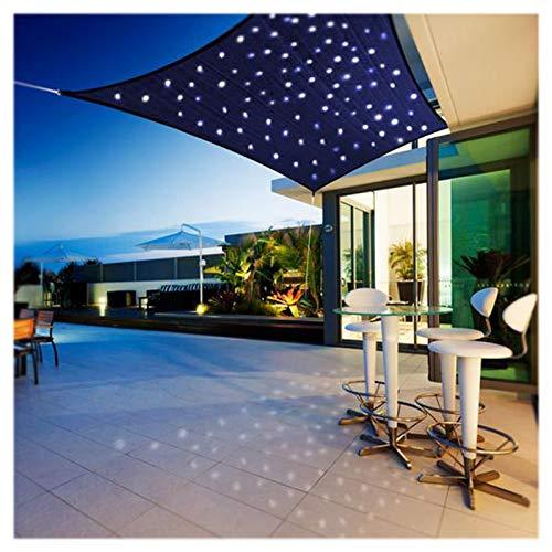 Toldo de vela rectangular de alta densidad con luz, toldo de vela impermeable, 90% a prueba de UV, transpirable, resistente al viento, para patio, jardín, jardín, patio, fiesta, 3 x 5 m