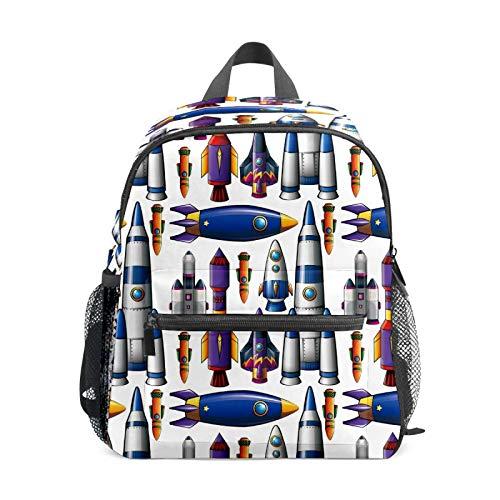 Mochila infantil para niños de 1 a 6 años de edad, mochila perfecta para niños y niñas de 1 a 6 años de edad, mochila perfecta para niños pequeños a jardín de infancia, diferentes barcos cohetes