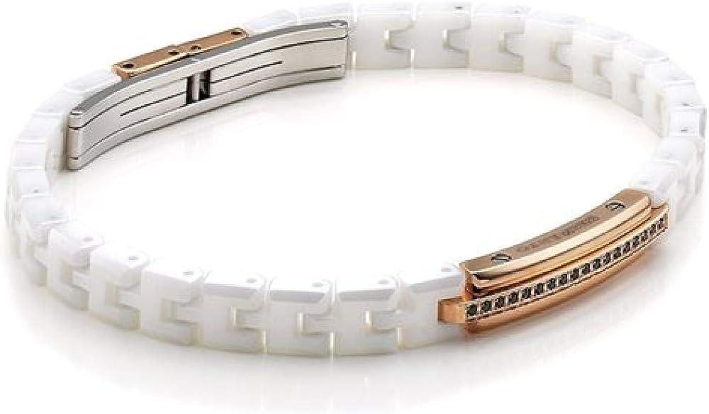 Chimento,bracciale unisex,in ceramica bianca. 82750414