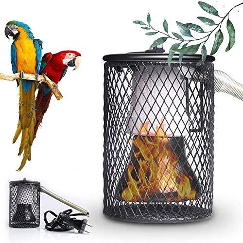 WSZYBAY Lámpara de Calor Reptiles, pájaros Colgantes Jaula Calentador con Anti-morder Tubo de Hierro Cortina de lámpara de Calor de Seguridad para Mascotas para Loros, lagartos, Tortugas 2.80 5.51in,