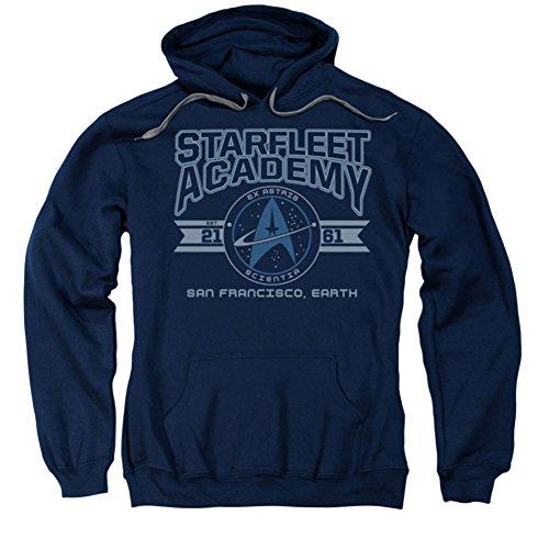 Star Trek Starfleet Academy Earth Sweat à capuche pour homme Bleu, Homme, bleu, 3X-Large