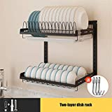 16' Kitchen Stainless Steel Dish Rack Hanging Drying Dish...