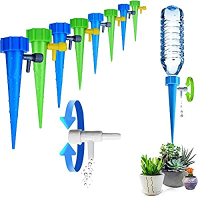 ARTEM Plant Waterer Self Watering Spikes System Automatic Vacation Drip Irrigation Watering Devices with Slow Release Control Valve Switch for Garden Plants Indoor & Outdoor (12 Packs) from ARTEM