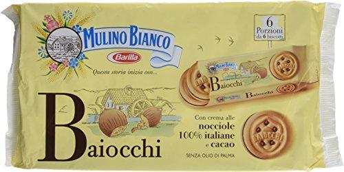 petit un compact Biscuits Mulino Bianco Baiocchi Nocciola et garniture aux noisettes et cacao 336g