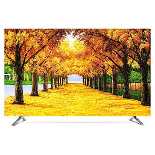 Protector TV Interior Universal Funda para Televisor de 20' - 80' LCD, LED, ó Plasma, A Prueba de Polvo, Decoraciones de Pantalla - 55 Pulgadas Golden Avenue