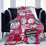 Rick und Morty - Manta de franela de microforro polar, ropa de cama infantil, fina, adecuada para sofá cama de hierro (Morty5, 135 x 200 cm)