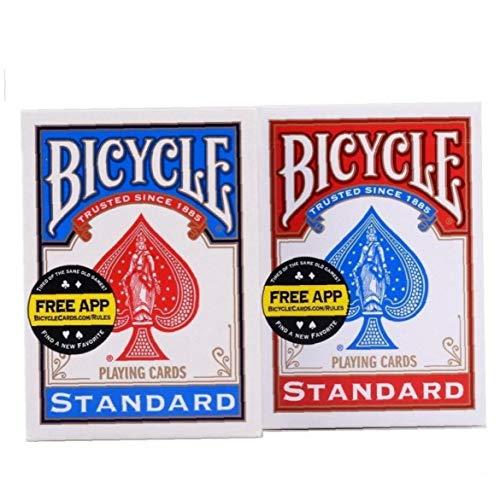 LAVALINK 2pcs / Set Fahrrad-Fahrer Zurück Standard Spielkarten Red & Blue Deck Spielen Poker Card Games Zaubertricks Props