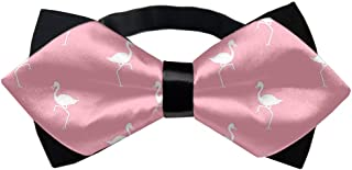 YINLAN Classic Men's Pre-Tied Adjustable Bowtie, Wedding Party School Fashion Novelty Tuxedo Bow Tie (Flamingo)