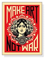 ポスター シェパード フェアリー Make Art Not War 2005年