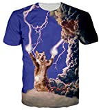 Spreadhoodie Unisex Camisetas de Manga Corta 3D Gato Casual T Shirt Camisas Deportivas Sport Graphics tee para Hombres S
