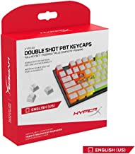 HyperX Double Shot PBT Keycaps - 104 Mechanical Keycap Set - White & White Pudding - Durable - HyperX Mechanical Keyboard Compatible - OEM Profile - 2 year Warranty (HXS-KBKC4)