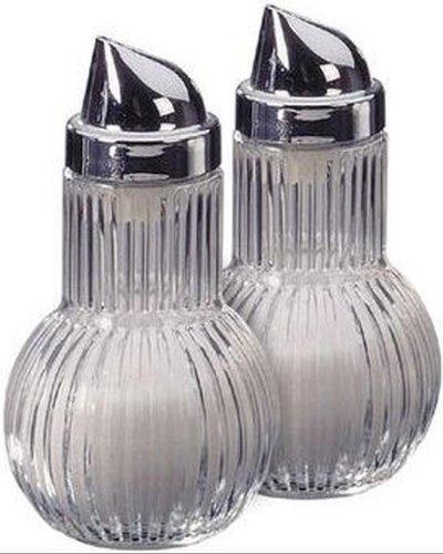 FACKELMANN Zuckerdosierer Rubin 14cm, Körpfer: Glas, Silber, ca, 2-Einheiten