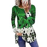 Mujeres de Manga Larga impresión Camiseta otoño Casual Suelto Elegante Calle