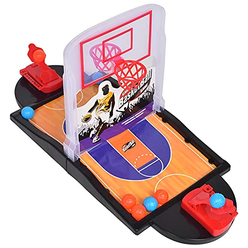 Yajun Mini Juego de Tiro de Baloncesto Juguete de Entrenamiento de Mesa Portátil para Interiores Interacción Familiar...