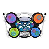 Toyrific Kids Electric Drum, I-drum with MP3 Connection, Portable Drum Set For Kids