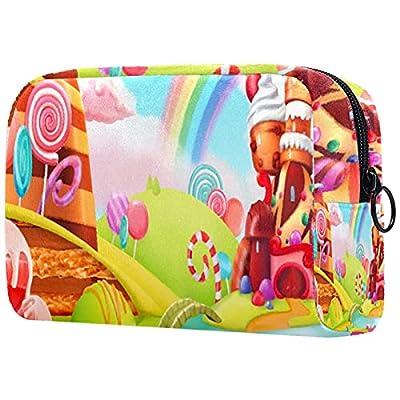 Trousse de Maquillage Organisation Rangement Cosmétique Portable Lollipops de Cupcake de Bonbons pour Les Voyages Plein air
