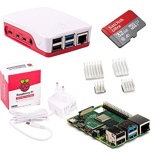 Raspberry Pi 4 Model B 4GB Desktop-Starter-Kit (32 GB, weiß)