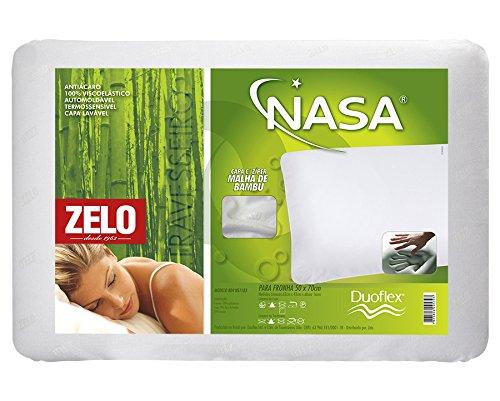 Travesseiro Zelo Viscoelástico 0.42x0.62m - Malha de Bambu Branco
