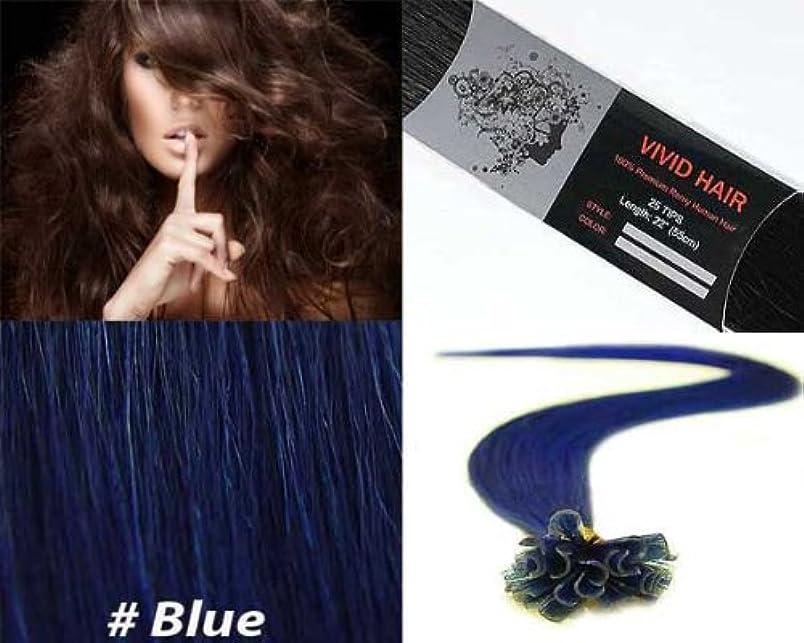 Vivid Hair 25 Strands Straight Pre Bonded U Nail Tip Fusion Remy Human Hair Extensions 22