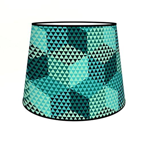 Abat-jours 7111301101747 Conique Imprimé Théma Suspension, Tissus/PVC, Multicolore