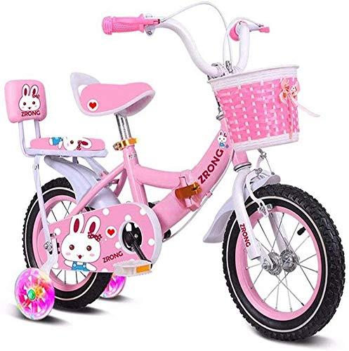 Pkfinrd Kinderen fiets Kinderen Fiets Vouwfiets Kinderwagen 2-3-4-5-6-7 Jaar Oude Inklapbare Flash Wheel Met Achterbank