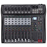 Depusheng DT8 Professional Mixer Sound Board Console 8 Channel Desk System Interface Digital USB...