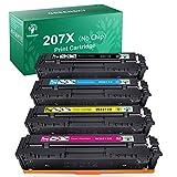 GREENSKY 207X Cartuchos de Toner Compatible para HP 207X 207A para HP Color Laserjet Pro MFP M283fdw M283fdn M282nw M255dw M255nw para W2210X W2211X W2212X W2213X (Sin Chip)