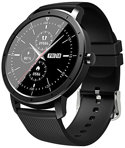 XWZ Smart Watch Fitness Tracker Smartwatch Pulsera Smartwatch Bandas Deportes Smartwatch Reloj Inteligente Soporte Android iOS IP68 Impermeable Bluetooth,Negro