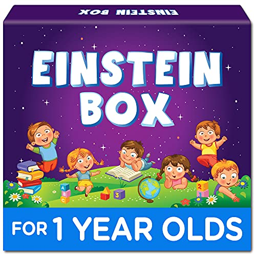 Einstein Box for 1 Year Old Boys/Girls | Gift Toys & Board Books for Kids | Learning and Educational Toys & Games | Pretend Play Set of Animal Masks| Pack of 1 Box Set, Multicolor