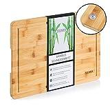 ZOLMER Schneidebrett aus Bambusholz - 40 x 30 x 2 cm - Hochwertiges Cutting Board - Praktisches und stabiles Küchenbrett - Chopping Boards