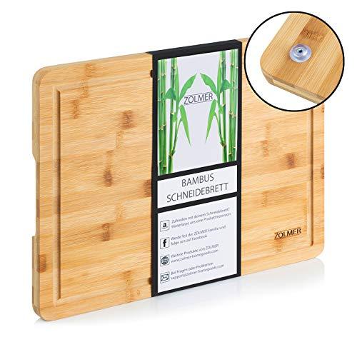 Zolmer® Schneidebrett aus Bambusholz - 40 x 30 x 2 cm - Hochwertiges Cutting Board - Praktisches und stabiles Küchenbrett - Chopping Boards