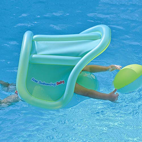 Free Swimming Baby Pool Float Activity Center with Removable Canopy for Kids Aged 6-36 Months Fun on The Water(with Canopy, L)