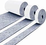 Fieltro Adhesivo Muebles, 3 Rollo (100 * 10 cm+100 * 5cm+100 * 2cm) Protector Suelo Muebles, Se Puede Cortar en la Forma Que Desee