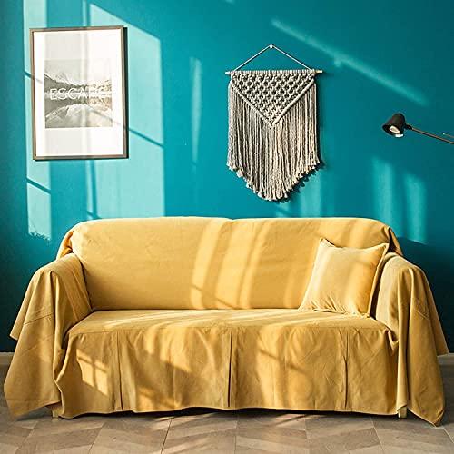 Sliyemo Modern Sofa Slfvaver, Protector de sofá Suave de Color sólido de Peluche para Perros Pet, acogedoras Cubiertas de sofá de algodón (Color : C, tamaño : 180 * 400cm)