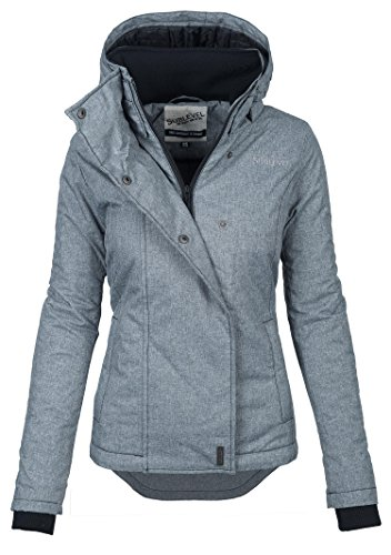 Sublevel Damen Herbst Winter Jacke Parka Mantel Winterjacke Outdoor B167 [B167-Dunkelgrau-Gr.XS]