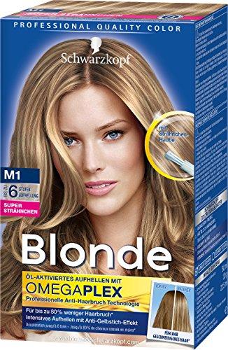 Schwarzkopf Blonde Strähnchen M1 Super Haarentfärber, Stufe 3, 3er Pack (3 x 103 ml)