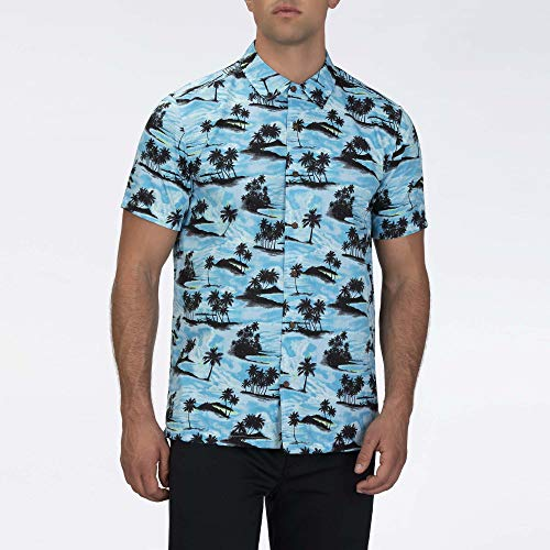 Hurley M Waikiki S/Chemises Homme Aurora Green FR: S (Taille Fabricant: S)