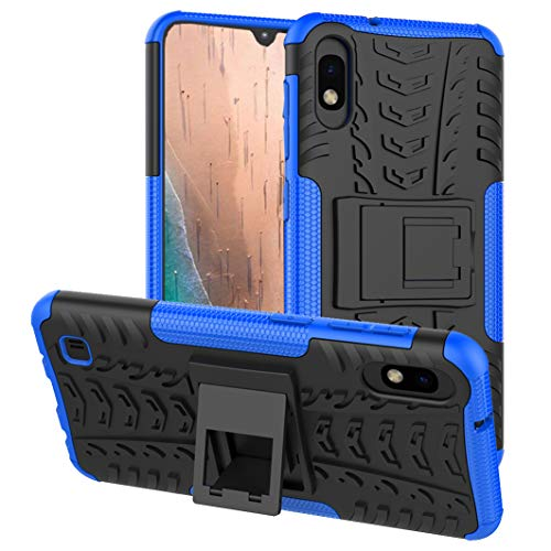 PUSHIMEI Galaxy A10 case, Samsung A10 Case, [not fit Galaxy A10e 5.8], with Kickstand Hard PC Back Cover Soft TPU Dual Layer Protection Phone Case Cover for Samsung Galaxy A10 6.2 (Blue Kickstand)
