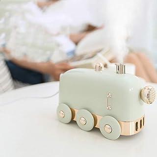 Mini Train Shape Humidifier 300ml Water Tank USB Decoration Air Diffuser Aromatherapy, Portable Desk Essential Oil Diffuse...