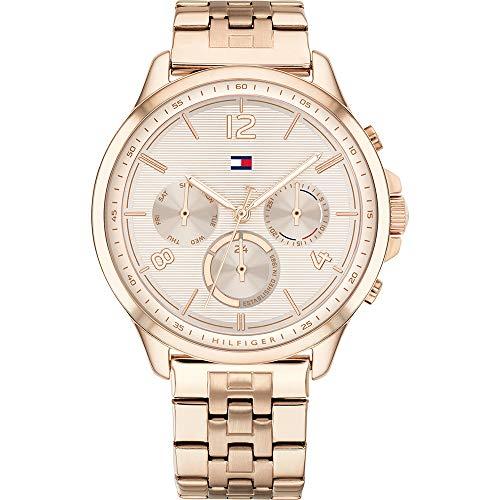 Tommy Hilfiger Damen Analoger Quarz Uhr mit Edelstahl Armband 1782224