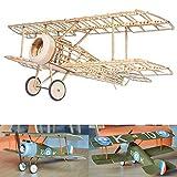 Sopwith Camel Slow Flyer Kits de Modélisme, Maquette d'avion avec Bois de Balsa, Échelle 1/20, 380 mm d'envergure des Ailes, Kit modèle RC, 245 x 380 x 128 mm, découpé au Laser, Poids en vol 47 GR
