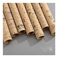 YVCHEN ギフトヴィンテージ包装紙ロール誕生日ホリデーギフトラップクラフト紙インテリアギフト