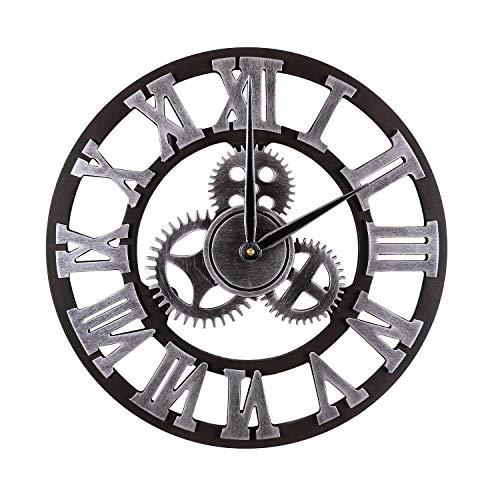 Mengshen Reloj De Pared Decorativo Retro De Gran Tamaño -...