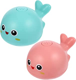 TOYANDONA 2pcs Baby Bath Toys Automatic Sprinkler Bath Toys Animals Squirt Toys Bathtub Whale Toys Water Playing Toy for T...