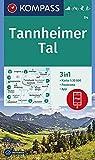 KOMPASS Wanderkarte Tannheimer Tal: 3in1 Wanderkarte 1:35000 mit Panorama inklusive Karte zur offline Verwendung in der KOMPASS-App. Fahrradfahren. ... Langlaufen. (KOMPASS-Wanderkarten, Band 4)