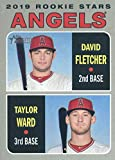 2019 Topps Heritage #74 David Fletcher/Taylor Ward Los Angeles Angels Rookie Baseball Card. rookie card picture