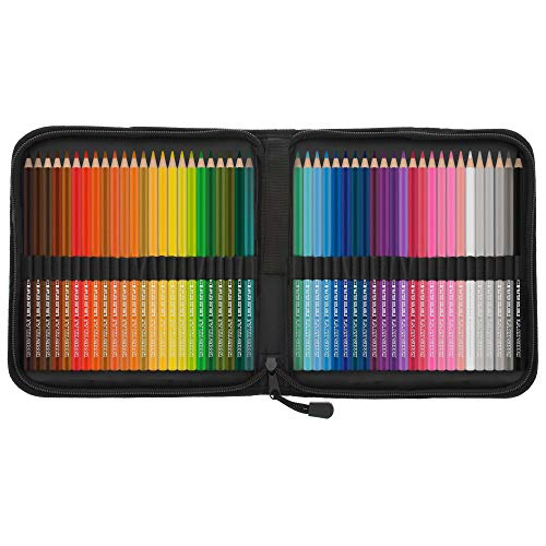 US Art Supply 48 Piece Watercolor Artist Grade Water Soluble Colored Pencil Set, Full Sized 7 Inch Pencil Length