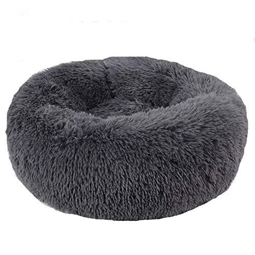 ZZAI Soft Lavable Cómodo Cama para Mascotas Sofá Nido Redondo Cojines para Dormir para Gatos Y Perros XH034