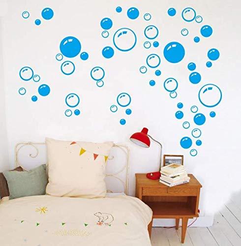 PVC DIY Für Aufkleber blau Wandkunst Kinder Bad Waschraum Dusche Fliesen Abnehmbare Dekor Abziehbild Wandbild Dekorative Aufkleber Aufkleber Blasen